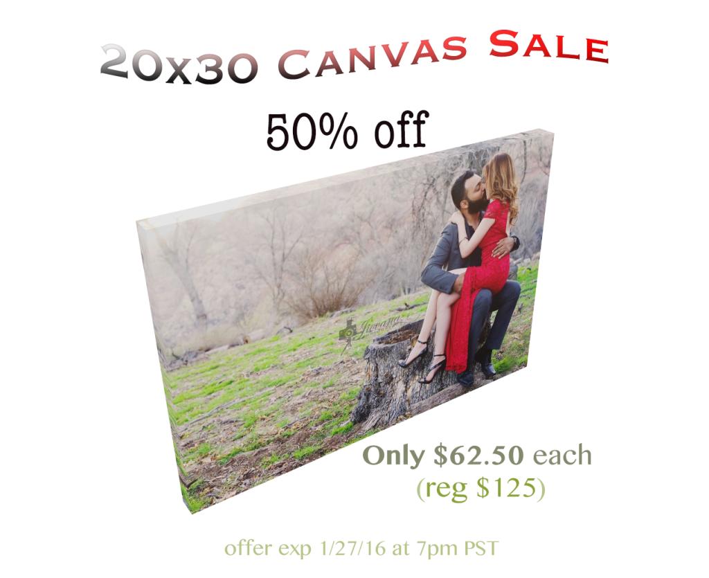 canvas sale jiovana photography