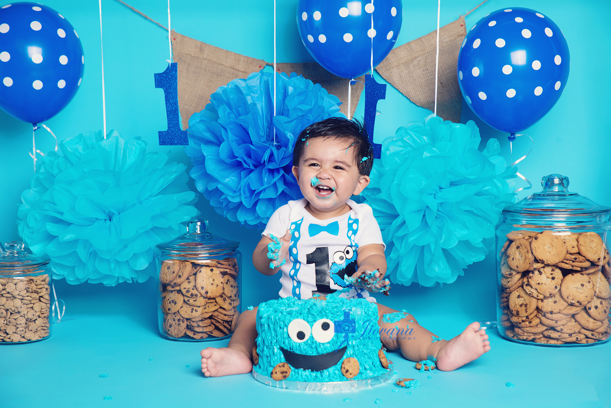 Abrahams 1st Birthday Smash Cake