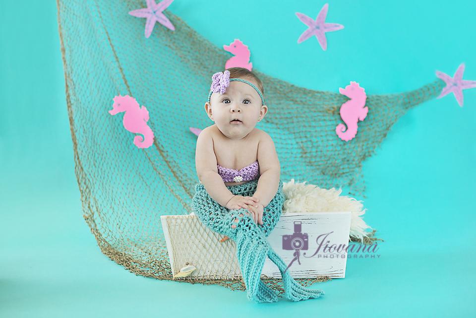 Leila's 1/2 Year Mermaid Session | Jiovana Photography